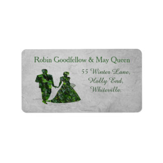 Ivy Green Man & Green Lady Handfasting Labels