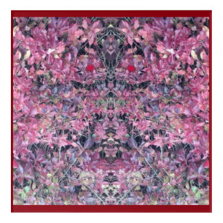 Ivy Head Plant Fractal with EYES Acrylic Print