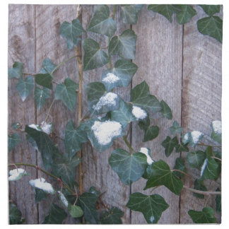Ivy in Snow Printed Napkins