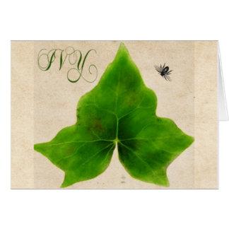 Ivy Leaf Botanical Painting Greeting Card