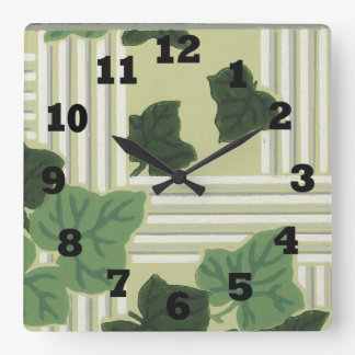 Ivy Leaves Retro Clocks