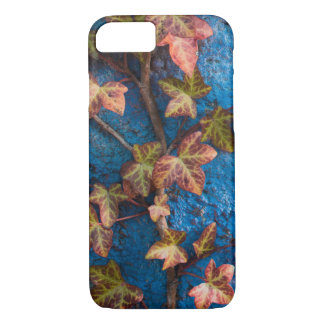 Ivy on blue background, iPhone case, unusual. iPhone 8/7 Case