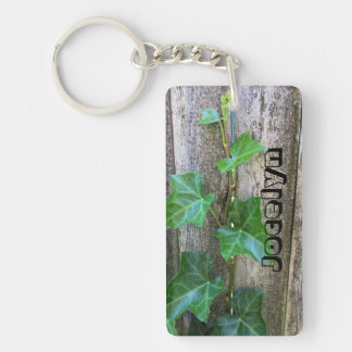 Ivy On Wood Personalized Key Ring