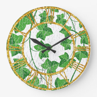 Ivy Over Weathered White Clock