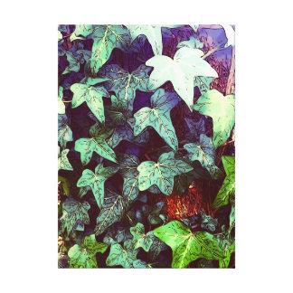 Ivy print canvas