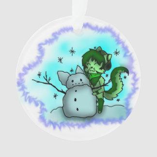 Ivy Snow Ornament