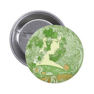 Ivy Vintage Mucha Art Buttons