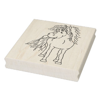 """IWD Julle Horse 4"""" x 5"""" Rubber Stamp"""