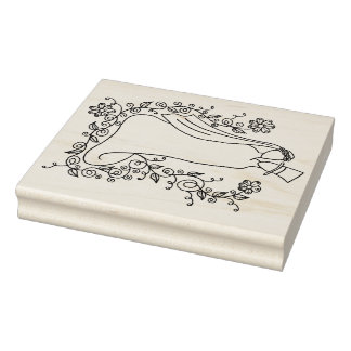 "IWD Wedding 4"" x 5"" Rubber Stamp"