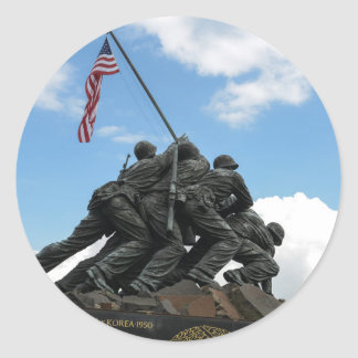 Iwo Jima Memorial in Washington DC Classic Round Sticker