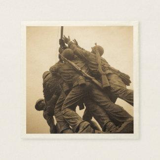 Iwo Jima Memorial in Washington DC Disposable Serviettes