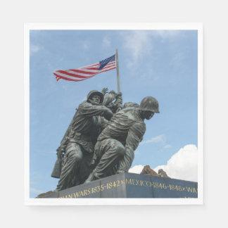 Iwo Jima Memorial in Washington DC Paper Napkin