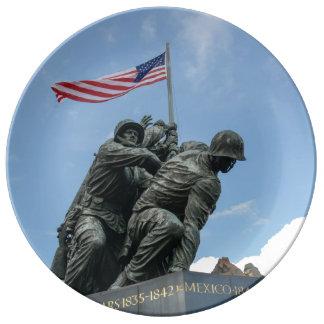 Iwo Jima Memorial in Washington DC Plate