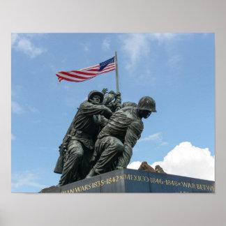 Iwo Jima Memorial in Washington DC Poster