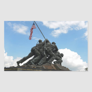 Iwo Jima Memorial in Washington DC Rectangular Sticker