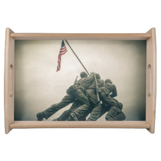 Iwo Jima Memorial in Washington DC Serving Tray