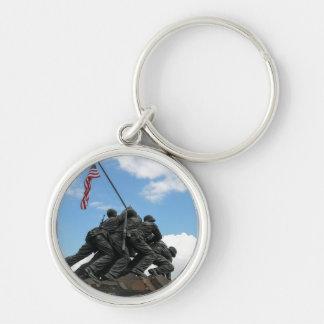 Iwo Jima Memorial in Washington DC Silver-Colored Round Key Ring