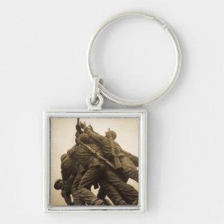 Iwo Jima Memorial in Washington DC Silver-Colored Square Key Ring