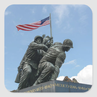 Iwo Jima Memorial in Washington DC Square Sticker