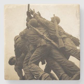 Iwo Jima Memorial in Washington DC Stone Coaster