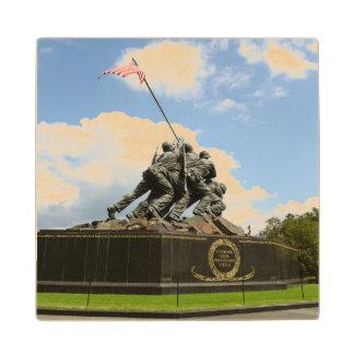 Iwo Jima Memorial in Washington DC Wood Coaster