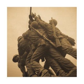 Iwo Jima Memorial in Washington DC Wood Print