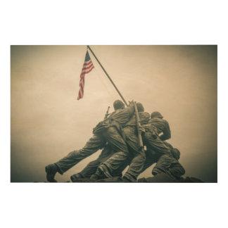 Iwo Jima Memorial in Washington DC Wood Wall Art