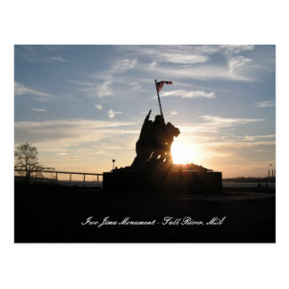 Iwo Jima Monument - Fall River, MA Postcard