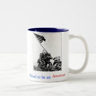 Iwo Jima Proud to be an American Coffee Mug