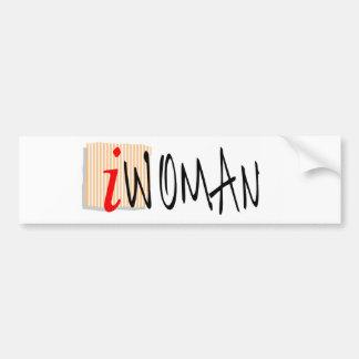 iWOMAN Bumper Sticker