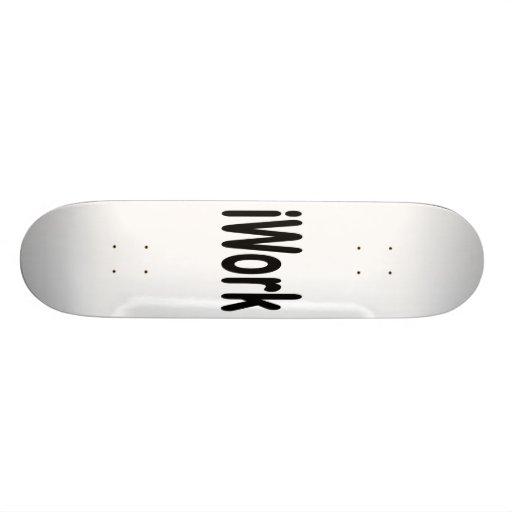 iwork design black text skate board