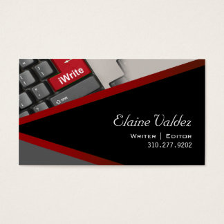 iWrite - Novelist Writer Editor Business Card