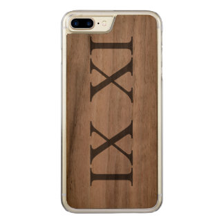 IX XI (Roman numerals 9 11) Carved iPhone 8 Plus/7 Plus Case
