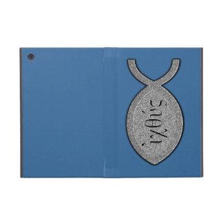 IXOYE Christian Fish Symbol - Stone Effect iPad Mini Cases
