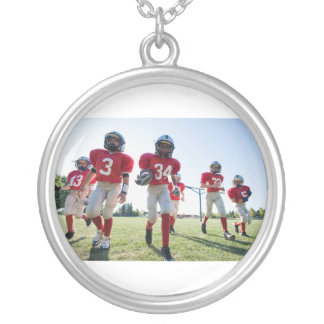 Iyfl Cougars Under 8 Silver Plated Necklace