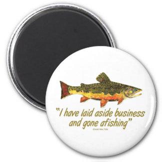 Izaak Walton Fishing Quote Fridge Magnets