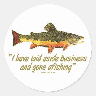 Izaak Walton Fishing Quote Stickers