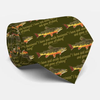 Izaak Walton Fishing Quote Tie