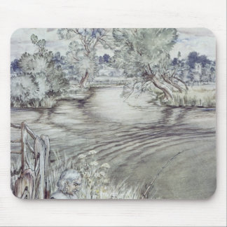 Izaak Walton reclining against a Fence Mouse Pad