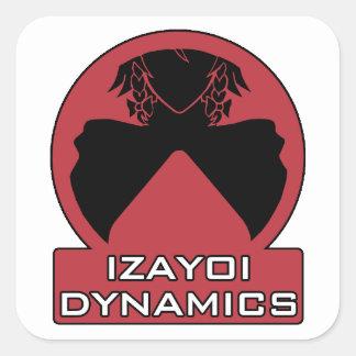 Izayoi Dynamics Logo with Text Square Sticker