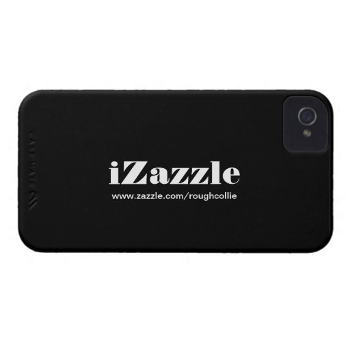 iZazzle, custom to promote your zazzle store black Blackberry Bold Case