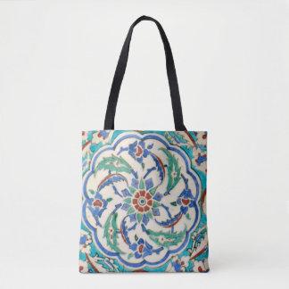 iznik ceramic tile from Topkapi palace Tote Bag