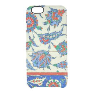 Iznik tile, turkish floral design clear iPhone 6/6S case