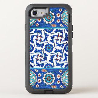 Iznik tile. Turkish floral design OtterBox Defender iPhone 7 Case