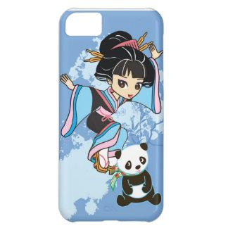 Izumi the Cartoon Kawaii Geisha Chibi Girl & Panda iPhone 5C Case