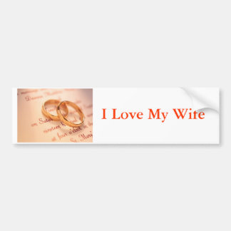 j0341738, I Love My Wife Bumper Sticker