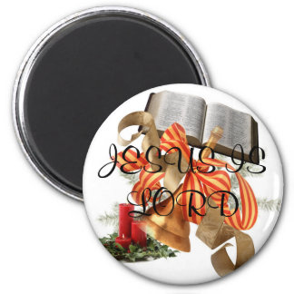 j0384882, JESUS IS LORD 6 Cm Round Magnet