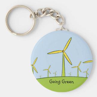 j0437259, Going Green Basic Round Button Key Ring