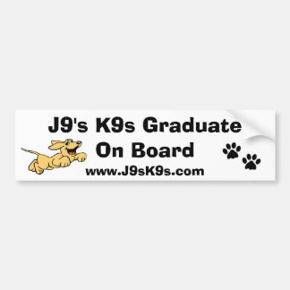 J9's K9s Graduate On Board Bumper Sticker