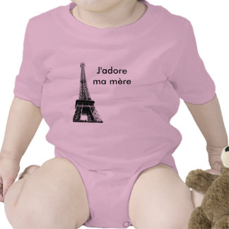 J adore ma mere baby baby bodysuit